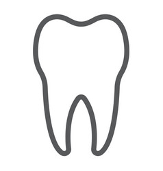 tooth line icon stomatology and dental vector image vector image