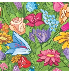 Vintage bright floral pattern vector image vector image