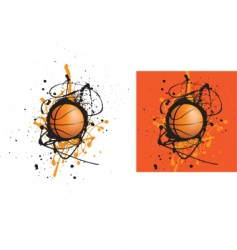 basketball splat vector image