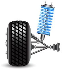 car suspension frontal view vector image vector image