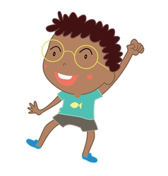 Cute young boy dance vector image vector image