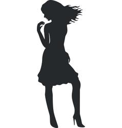 Girl in black 09 vector image
