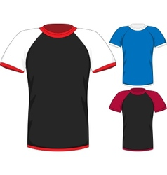 Mens short sleeve t-shirt design templates vector image