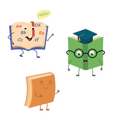 set of funny characters from books vector image