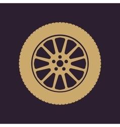 The tire icon wheel symbol flat vector
