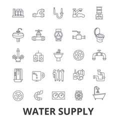 water supply pipe drainage hvac pump vector image