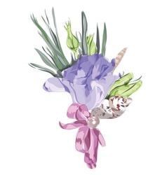 watercolor wedding flowers vector image vector image
