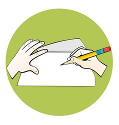 writing on paper vector image vector image