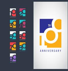 100 year anniversary set 10 20 30 40 50 60 70 80 vector