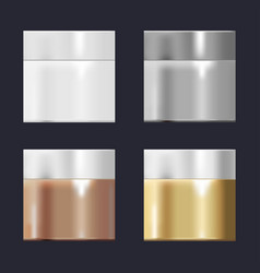 a set of templates of tubes with gradients gold vector image