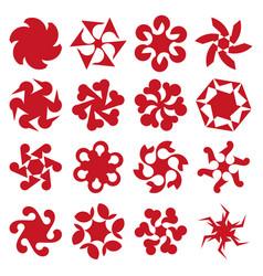 abstract geometric circular shapes vector image