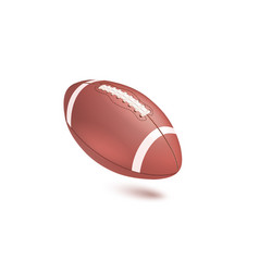 american striped football ball diagonal position vector image