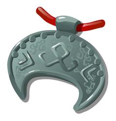 Ancient silver pendant with slavic symbol vector