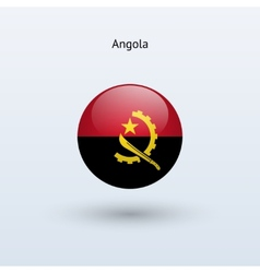 Angola round flag vector
