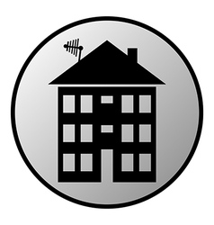 Apartment house button vector image