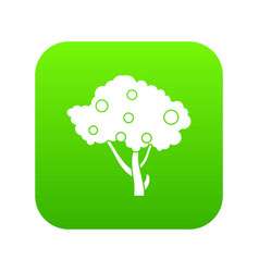 Apples on apple tree branches icon digital green vector