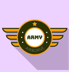 Army airborn logo flat style vector