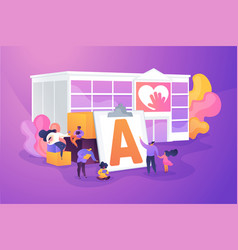 Autism center concept vector