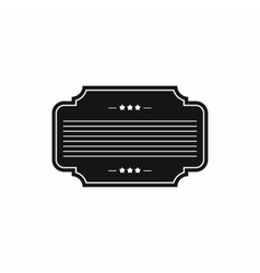 Badge with three stars icon simple style vector image