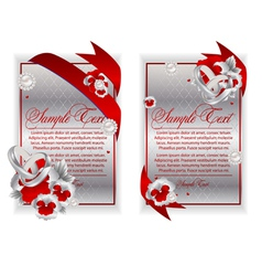 banner cards vector image