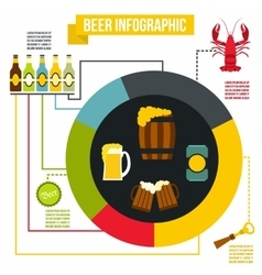 Beer infographic flat style vector image