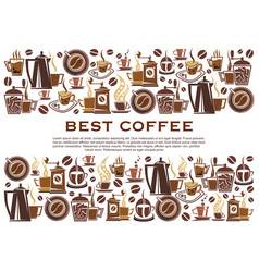 Best coffee cafeteria poster vector