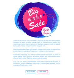 big winter sale best choice hanging tag on thread vector image