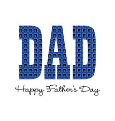 Blue bandana happy fathers day vector
