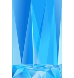 Blue triangles abstract poster background vector image