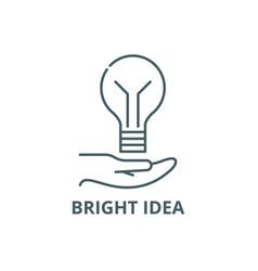 bright idea line icon bright idea outline vector image