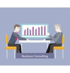 Business Consulting People on Negotiations vector
