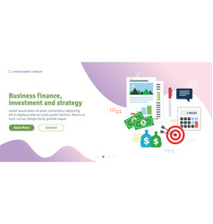 Business finance investment and strategy vector