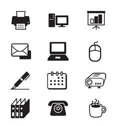 Business office tools icon set vector
