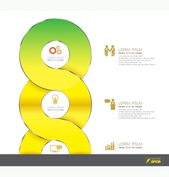Business Template 3D with icons vector image