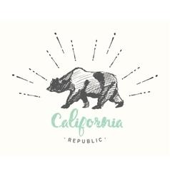 California Republic emblem drawn sketch vector