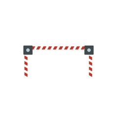 Car barrier icon flat style vector image
