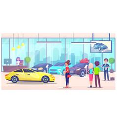 car center woman customer buyer choosing vector image