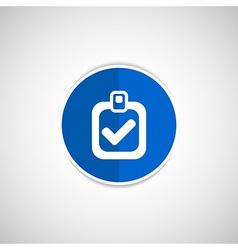Checkmark icon test form mark tick check vector