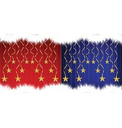 Christmas asterisks vector image