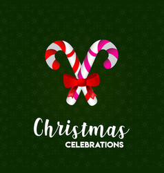 christmas celebration cone green snowflake vector image