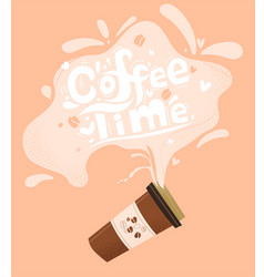 coffee time flat style vector image