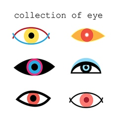 Collection of eye signs vector