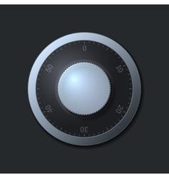 Combination lock wheel on dark background vector image
