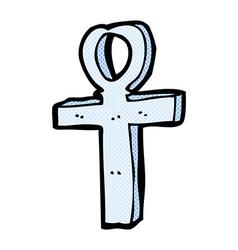comic cartoon ankh symbol vector image