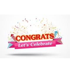 Congratulations with confetti vector image
