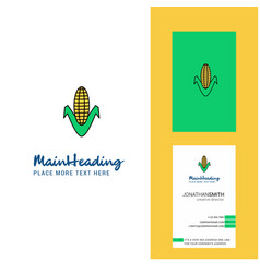 corn creative logo and business card vertical vector image