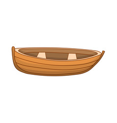cute colored boat vector image