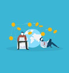 digital money market vector image