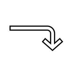 down line black icon vector image