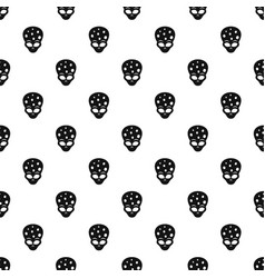 Extraterrestrial alien head pattern vector